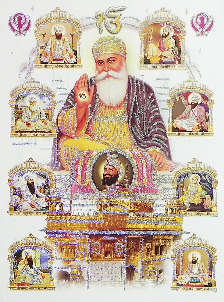 My 29 Piece Winter 2018 2019 Capsule Wardrobe: Ten Sikh Gurus And Golden Temple (Poster With Glitter