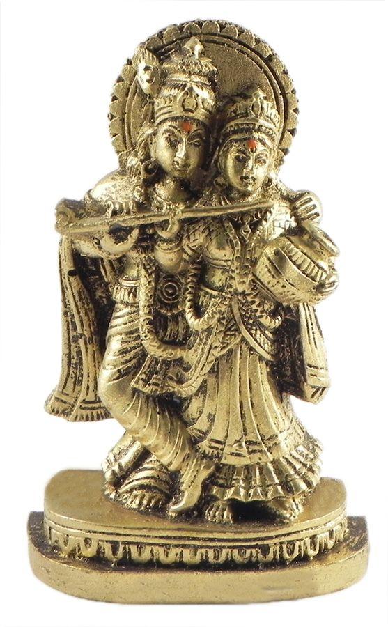 Radha Krishna Stone Dust Statue 3 25 X 2 25 X 1 Inches