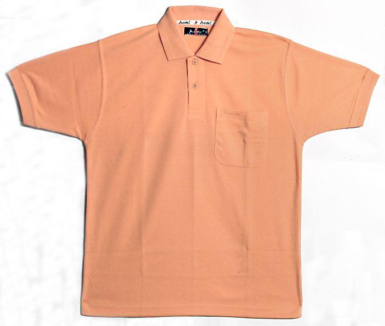 Light peach polo t shirt for Light brown polo shirt