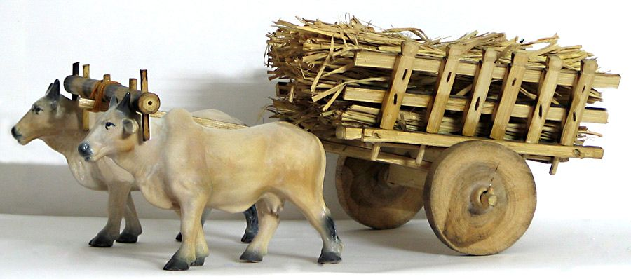 bullock cart with hay indian clipart indian clipart images