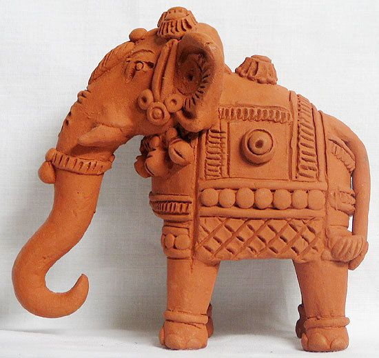 Elephant Terracotta Statues