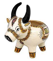 Ceramic Cow Pen Holder