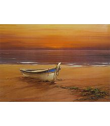 Buy Lonesome Boat Poster