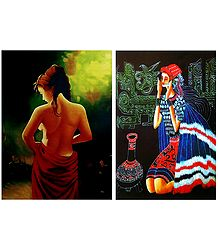 Set of 2 Women Posters