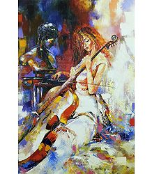 Shop Online Lady Playing Violin Poster