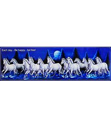 White Horses Galloping Together