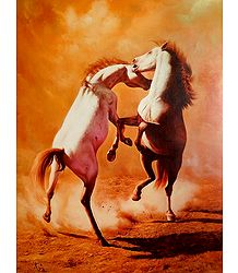 Pair of Dancing Horses