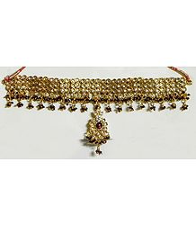 Maroon and White Stone Studded Gorgeous Armlet (To wear on upper arm)