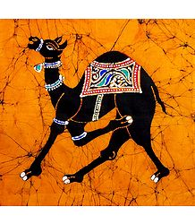 Royal Camel - Batik Painting