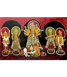 Batik Durga with Her Family