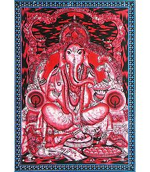 Lord Ganesha - Batik Print on Cloth