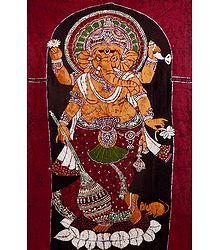 Lord Ganesha Standing on Lotus