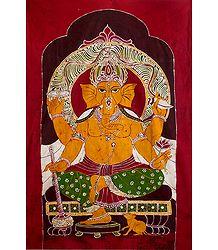 Lord Ganesha - Batik Painting