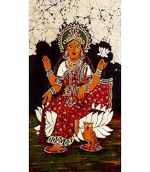 Goddess Lakshmi - Batik Painting