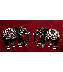 Pair of Decorated Elephants