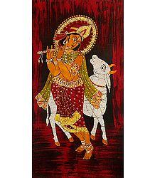 Muridhar Krishna with Cow