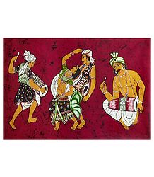 Batik Painting on Cotton Cloth