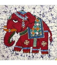 Royal Elephant - Batik Painting