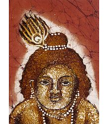 Bal Gopal - Batik Painting on Cotton Cloth