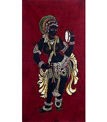 Lady Holding a Mirror - Batik Painting