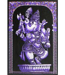 Dancing Ganesha - Printed Batik
