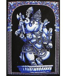 Lord Vinayak - Batik Print on Cotton Cloth