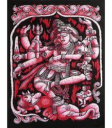Lord Shiva as Nataraja - Printed Batik