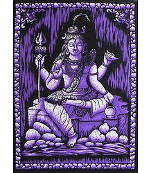 Lord Shiva Batik Print on Cotton Cloth
