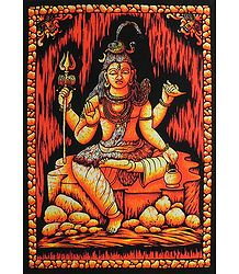 Shiva - Batik Print on Cotton Cloth