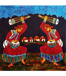 Pair of Baul Singers