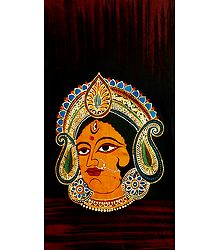 Face of Durga - Batik Painting