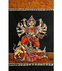 Devi Durga - Batik Painting on Cloth