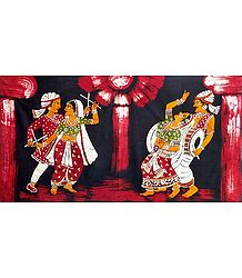 Dandiya Raas - Batik Painting