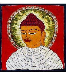Gautam Buddha - Batik Painting on Cotton Cloth