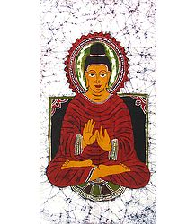 Gautam Buddha - Batik Painting on Cloth