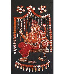 Lord Ganesha - Batik Painting on Cloth
