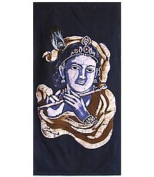 Lord krishna - Batik Painting on Cloth