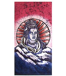 Lord Shiva - Batik Painting on Cloth