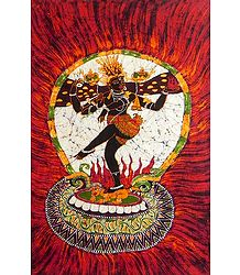 Nataraja Dancing the Tandava - Batik Painting