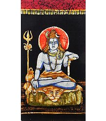 Buy Lord Shiva - Batik Painting on Cloth
