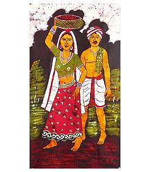 Buy Batik Painted Farmer Couple
