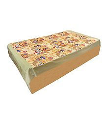 Micky Donald Print on Colorful Cotton Single Bedspread