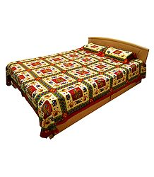 Buy Online Cotton Double Bedspread with 2 Pillow Covers