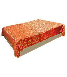 Saffron Satin Finish Double Bedcover
