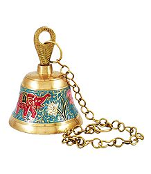 Buy Meenakari Hanging Brass Bell