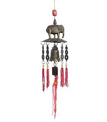 Feng Sui Pagoda Hanging Bell With Elephant