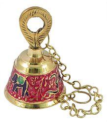 Meenakari Hanging Brass Bell