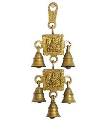 Hanging Bell with Shiva - Wall Hanging