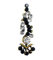 Black with White Stone Decorative Bindi