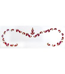 Magenta and White Stone Studded Bridal Bindi